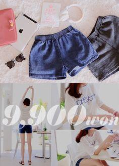 band denim shorts  SFSELFAA0002910