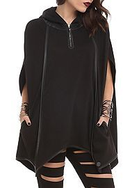 Disney Maleficent Bat Wing Pullover from Hot Topic Poncho Coat, Disney Maleficent, Fashion Line, Bat Wings, Jacket Style, Swagg, Hot Topic, Skinny Jeans, Style Inspiration