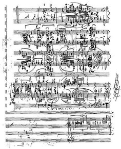 Sketch Page of Mosaïques, from Notations score Collection by John Cage.