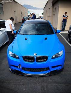 matte blue bimmer ;)