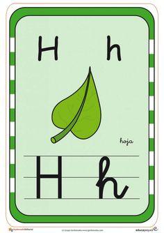 Tarjetas para aprender el abecedario y repasar las letras Professor, Activities For Kids, Alphabet, Letters, Color, Victor Hugo, Homeschooling, Victoria, Certificate