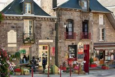 Bécherel shopfronts, Brittany, France