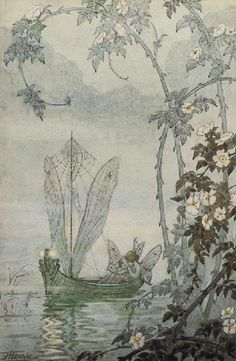 The Fairy Boat - Illustration by Hilda Hechle