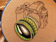 Beautiful detail to this camera lens!