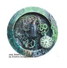 Tic tac   Mixed media - Steampunk -  inspiration Finnabair  www.lafievrescrappeuse.com/
