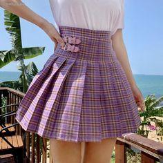 Harajuku Mode, Harajuku Fashion, Kawaii Fashion, Style École, Looks Style, Preppy Mode, Preppy Style, Kawaii Korean, Girls School Skirts