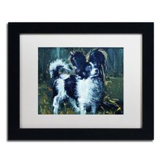 "Trademark Art ""Lady Papillion"" by Lowell S.V. Devin Framed Painting Print in White Mat Size: 1"