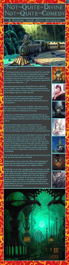 Post with 169 votes and 8861 views. Tagged with fantasy, cyoa, dantes inferno; Shared by CYOAstuff. Not-Quite-Divine Not-Quite-Comedy CYOA Create Your Own Adventure, Dantes Inferno, Story Inspiration, Story Ideas, Tabletop Games, Trending Memes, Have Time, Good Books, Avatar