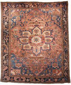 Serapi Carpet, Northwest Persia; Circa 1900; 8ft. 9in. x 10ft. 5in.