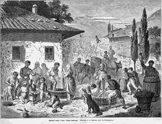 Tatar Crimea.Сбор винограда в Крыму.Всемирная иллюстрация№9, 1875