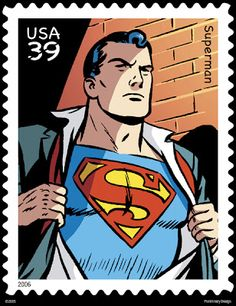 Superman Man of Steel Stamp DC Comics Superheroes Superhero Superman Comic, Batman, Real Superman, Superman Artwork, Superman Wallpaper, Postage Stamp Design, Postage Stamps, Comic Books Art, Comic Art
