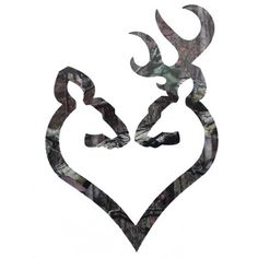 """Browning Buck and Doe Heart Decal 6"""" Camo Browning Buckmark, Browning Deer, Browning Logo, Browning Symbol, Browning Tattoo, Head Tattoos, Tatoos, Silhouette Cameo Projects, Pink Camo"""