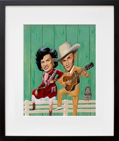 Patsy Cline and Hank Williams  by Mark Ulriksen