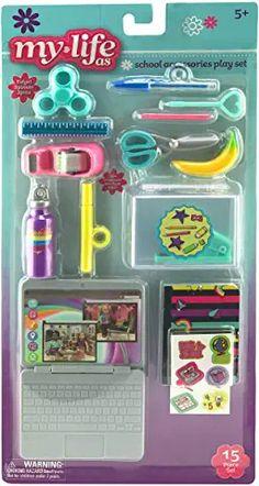 American Girl Doll Room, American Girl Furniture, American Girl Crafts, My Life Doll Accessories, American Girl Accessories, School Accessories, Barbie Dolls Diy, Barbie Toys, My Life Doll Stuff
