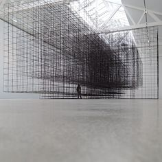 matrix II (2015) antony gormley  second body : exhibition at galerie thaddaeus ropac | paris,