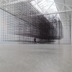 nexttoparchitects: by @archviews #next_top_architects matrix II (2015) antony gormley second body :: exhibition at galerie thaddaeus ropac | paris, pantin (2015)