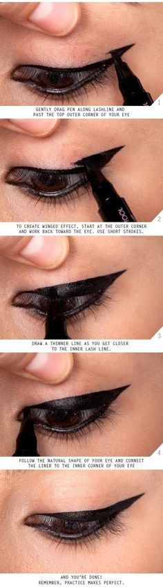 17 Great Eyeliner Hacks | DIY Tutorials For A Dramatic Makeup Look With Easy Tips & Tricks Every Girl Should Know By Makeup Tutorials  http://makeuptutorials.com/makeup-tutorials-17-great-eyeliner-hacks/ https://www.pinterest.com/pin/447826756671715973/