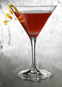 FRENCH MARTINI  1 ½ ounces your favorite Vodka   ½ ounce of Chambord   ½ ounce of pineapple juice   Shake ingredients with ice and strain into glass.  Garnish with lemon peel