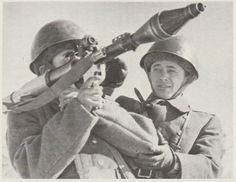 Soviet soldiers with a RPG rocket lancer