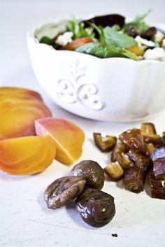{Sweet Beet & Chestnut Salad}   #glutenfree #sweetandsaltylife