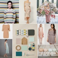 great color palette - love everything except the striped dress.