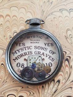 OOAK Ouija Board Steampunk Pocket Watch Necklace