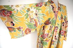 kimono beach robe with Matson Line Frank Macintosh Illustrations