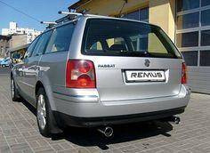 REALIZACJA: Volkswagen Passat Variant  Rodzinne kombi średniej klasy też może zachwycać brzmieniem! Wystarczy odrobina pomocy Wilka. W prezentowanym VW zamontowane zostały tłumiki wraz z końcówkami REMUS INNOVATION, które zapewniają basowy, sportowy dźwięk silnika. Wartością dodaną jest tu również poprawa wyglądu tylnej części auta dzięki chromowanym, podwójnym zakończeniom.  Remus Polska http://www.remus-polska.pl/