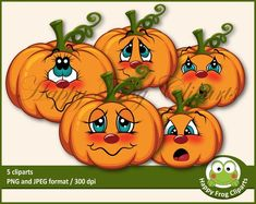 Happy Frog Cliparts by HappyFrogCliparts on Etsy Fall Pumpkins, Halloween Pumpkins, Fall Halloween, Halloween Crafts, Halloween Ideas, Halloween Cookies, Halloween 2019, Scary Halloween, Christmas Craft Projects