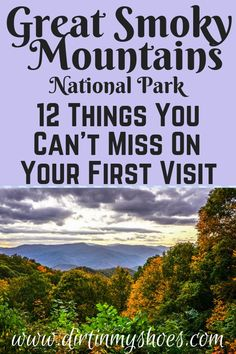 Great Smoky Mountains National Park is one of the most beautiful places in Tennessee, and should be on everybody's bucket lists! Planning an itinerary for your family vacation can be a challenge though, that is why I'm sharing this list of 12 things to do in Smokies. Whether you are hiking with kids, camping with families, or are on a solo photography adventure take this list as you travel and make the most of your road trip! Don't miss number 9! #greatsmokymountainsnationalpark #travel