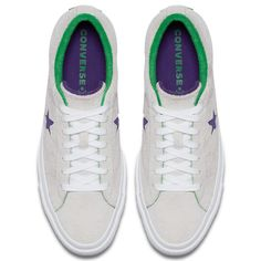 detailed look 3b1f6 e5a84 One Star Grand Slam Low Top in WhiteCourt PurpleGreen  Converse.