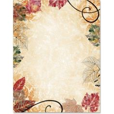 Fall Fusion Border Papers