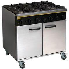 Cocina de Gas Natural de 6 fogones con horno Buffalo