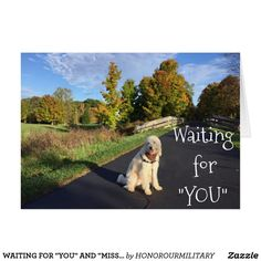 "WAITING FOR ""YOU"" AND ""MISSING"" YOU, TOO!THI"