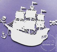 Купить Чипборд Пиратский корабль - чипборд, чипборд из картона, wycinanka, Декор, декоративные элементы