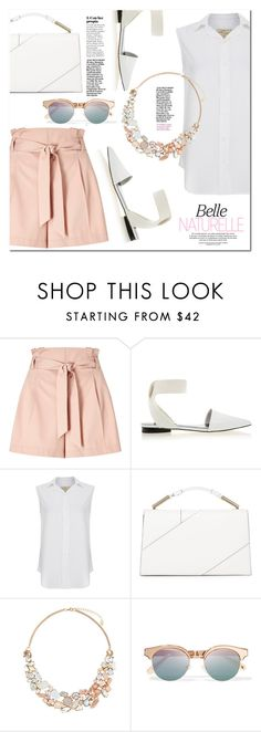 """Natural...."" by christinacastro830 ❤ liked on Polyvore featuring Miss Selfridge, Senso, Current/Elliott, Jason Wu, Accessorize and Le Specs"