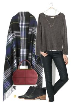 """cape"" by villasba ❤ liked on Polyvore featuring J.Crew and Madewell"