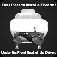 Vehicle Gun Holster - designed to work with any holster. Place your holster on the leather platform; cinch it down securely with the velcro straps. Then, simply hook it under the seat, pull the straps tight and your firearm is completely concealed under the seat and still very accessible.