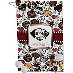 Dog Faces Golf Towel - Full Print (Personalized)