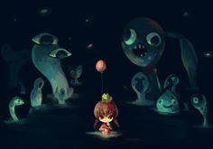 Fanart by Thayora. Madotsuki and Frog effect from Yume Nikki.