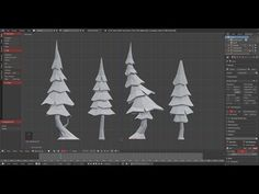 Modeling Low Poly Tree with Modifier Stack (Blender) - YouTube