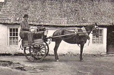 A Jaunting Cart, Ireland. #postcards