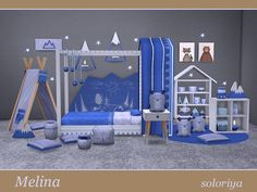 Melina toddler bedrooms by soloriya at TSR