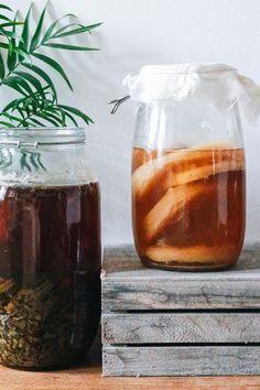 How To Brew Kombucha, Kombucha Recipe, Organic Green Tea, Organic Sugar, Green Tea Bags, Clean Recipes, Clean Foods, Cheese Cloth, Fermented Foods