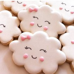 Smiley nube Cookie Cutterjaponés kaomoji Lindo nubes cielo Kawaii Galleta
