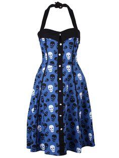 Sourpuss Lust For Skulls Peggy Dress ~ Grindstore