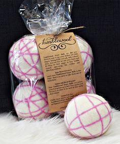 tumblewool pink dryer ball set of four