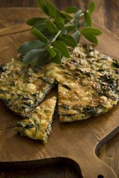 Spinach and mushroom Spanish omelette