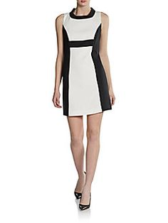 zoe colorblock party dress