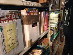 Star Wars comics in a old vintage bookshop